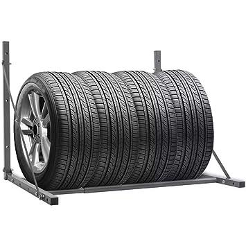 Xingshuoonline Estante para Neumáticos Plegable de Acero Galvanizado Plateado,Maletas para Moto