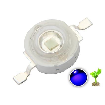 chanzon 10 pcs high power led chip 3w royal blue plant grow light rh amazon com