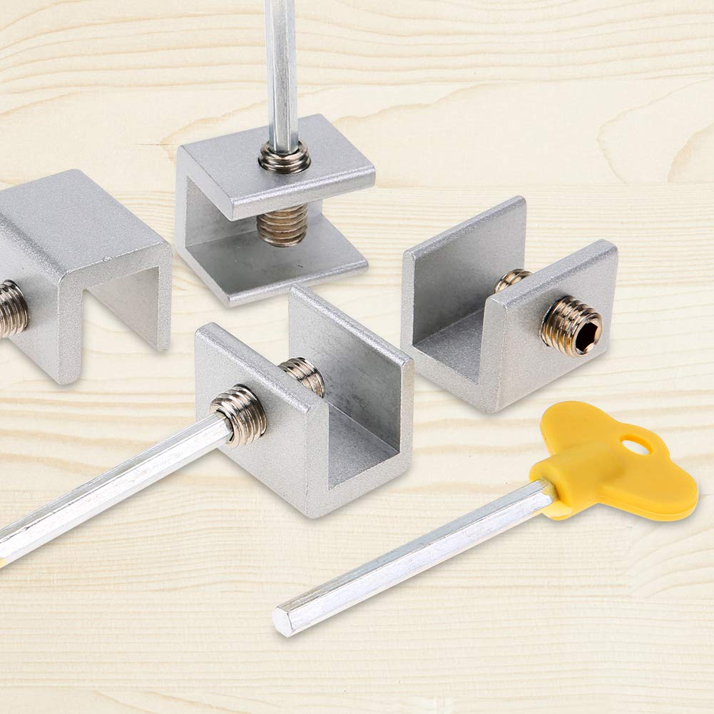 4 Pcs Adjustable Security Child Window Safety Latch with Keys No Tool Needed Aramox Sliding Window Lock