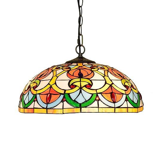 Lámpara de techo estilo Tiffany de 16 pulgadas, lámpara ...