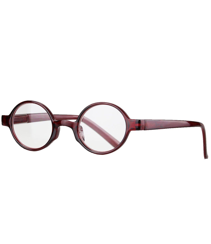 caripe Retro Nerd Vintage Lesebrille Lesehilfe Damen Herren oval rund Federscharnier- M4092