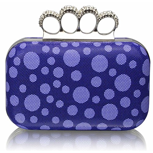 Purse Women's For BLUE Clutches Handbag Beads Diamante LeahWard® Night Ceremony Luxury CLUTCH Out DOT Wedding Clutch pd8nCqw8xX