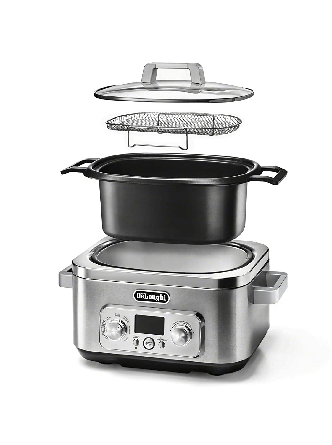 De Longhi CKM1641D Livenza All-in-One Programmable Multi Cooker Stainless Steel