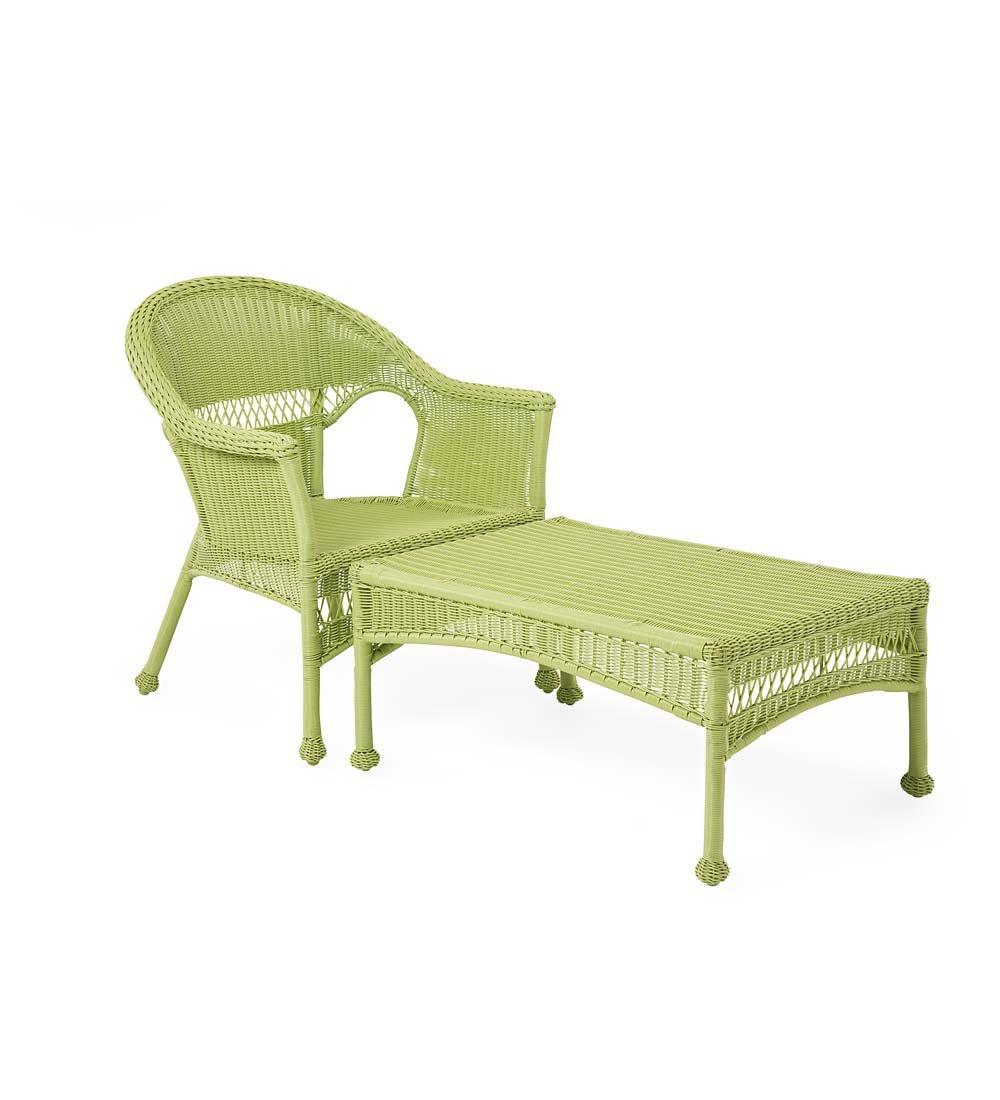 Amazon com easy care resin wicker chaise natural garden outdoor