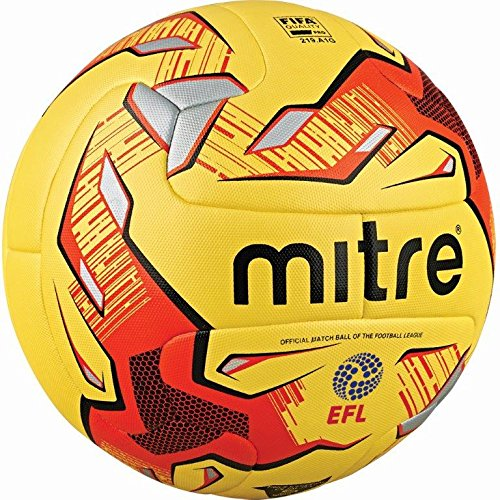 4e1b4ecc8a155 Mitre Delta Hyperseam Professional Football - Yellow Red Black EFL ...