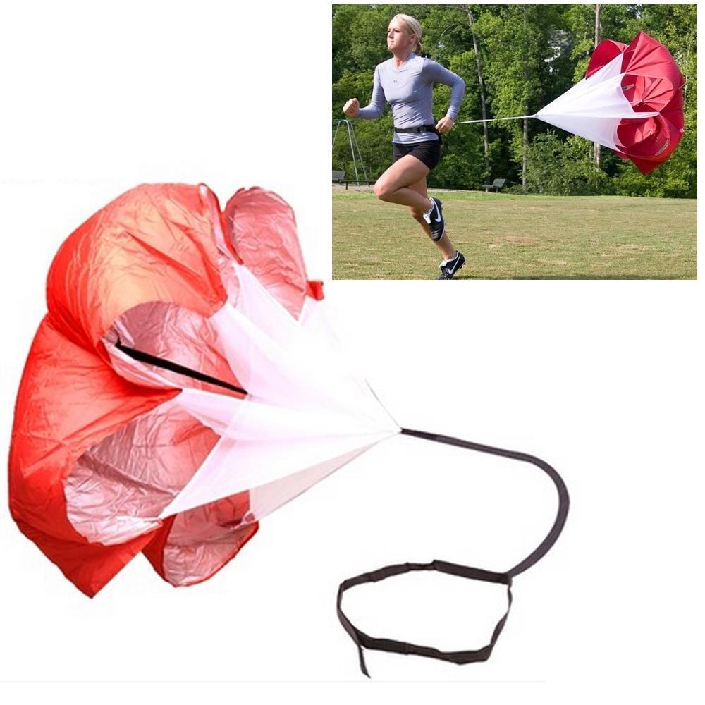 Leegoal Speed training, running paracadute da corsa calcio allenamento di resistenza paracadute ombrello per pesi in corsa e fitness Core Strength training, Blue