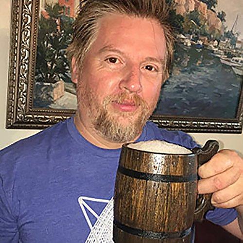 Handmade Beer Mug Made of Wood Tankard Wooden Stein Beer Tankard Stein Crafted Beer Mug Cup Capacity: 20.28oz (600ml) by Etno Motif (Image #7)