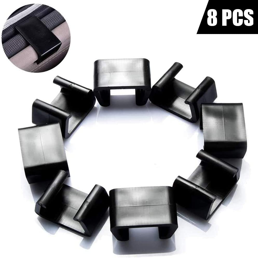 8 PCS Outdoor Patio Furniture Clips for Patio Sectional Sofa,Connect The Sectional or Module Outdoor Couch Patio Furniture & Rattan Chairs (M-Black)
