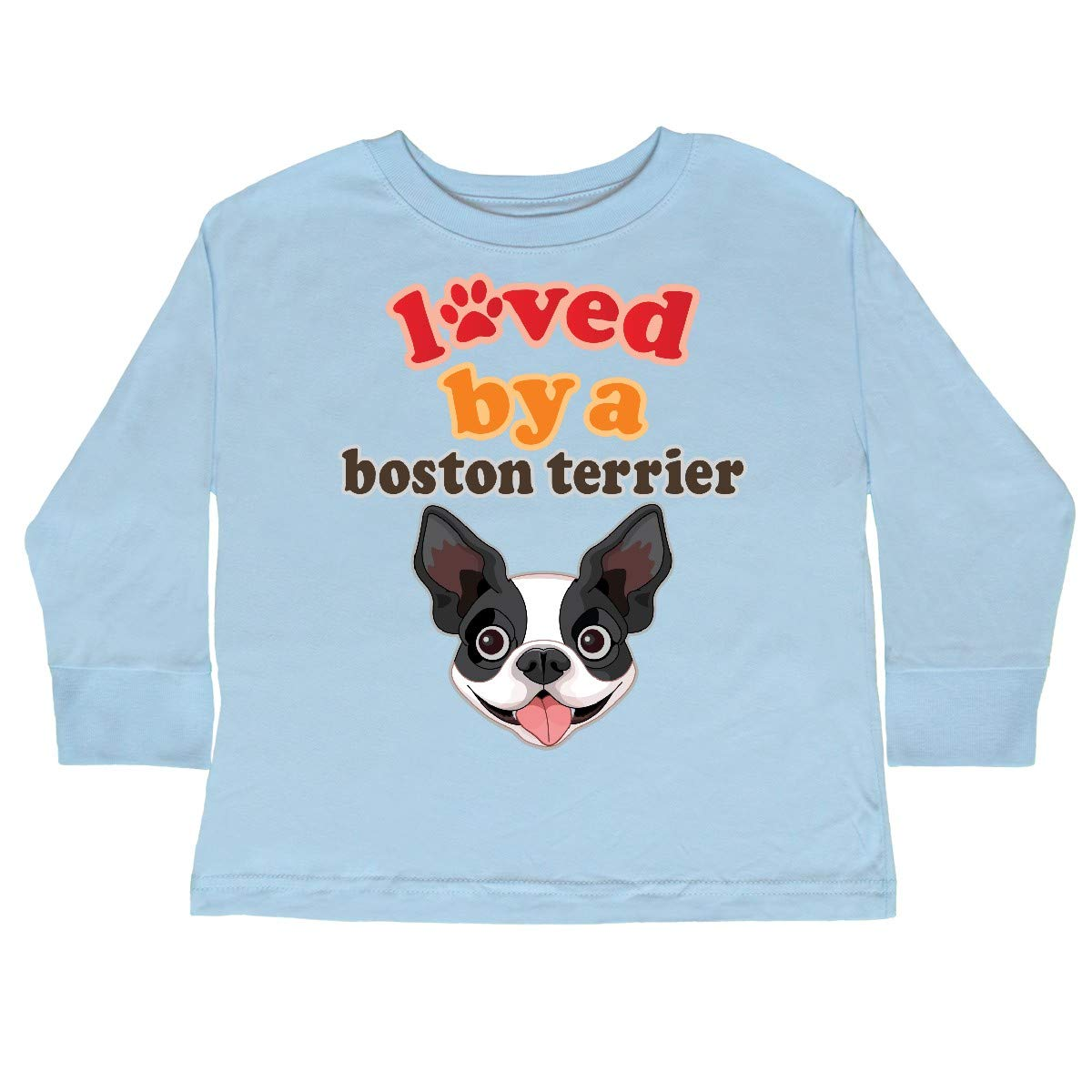 inktastic Boston Terrier Dog Gift Toddler Long Sleeve T-Shirt