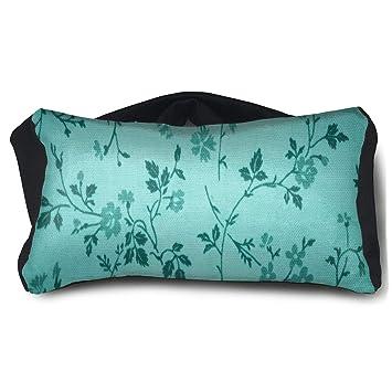 Amazon.com   Eye Pillow Teal Floral Print Stylish Womens Portable Blindfold  Train Sleep Eye Bag Bed   Beauty 50ea77d16e