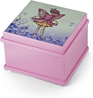 Matte Pink Enchanted Fairy 18 Note Ballerina Musical Jewelry Box - You Pick The Song - Teddy Bear's Picnic (John W Bratton)