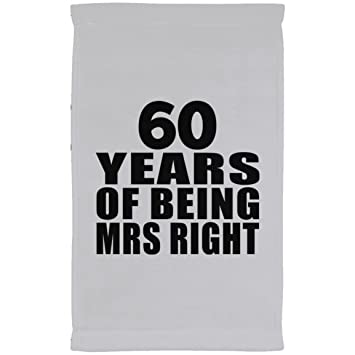 Designsify Toalla de aniversario, 60 años de ser la señora derecha, toalla de cocina