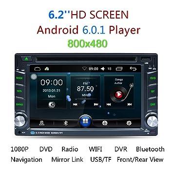 WWSZ Radio de coche universal Android DVD6.0 Navegación GPS en una máquina 6.