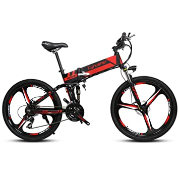 Extrbici xf700 26 pulgadas x 17 pulgadas bicicleta eléctrica plegable (estructura de aluminio plegable montaña