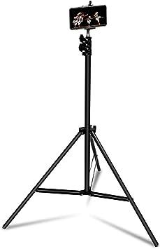 Linq - Trípode Universal para Smartphone y cámara de Fotos, Ajustable hasta Aproximadamente 210 cm, Compacto y Ligero – Dimensiones: Smartphone de una Anchura de Entre 55 y 80 mm, Color Negro: Amazon.es: Electrónica