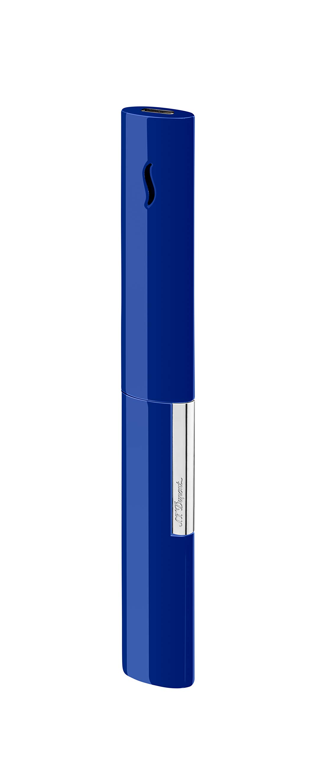 S.T. Dupont Blue/Chrome Luxury Lighter The Wand