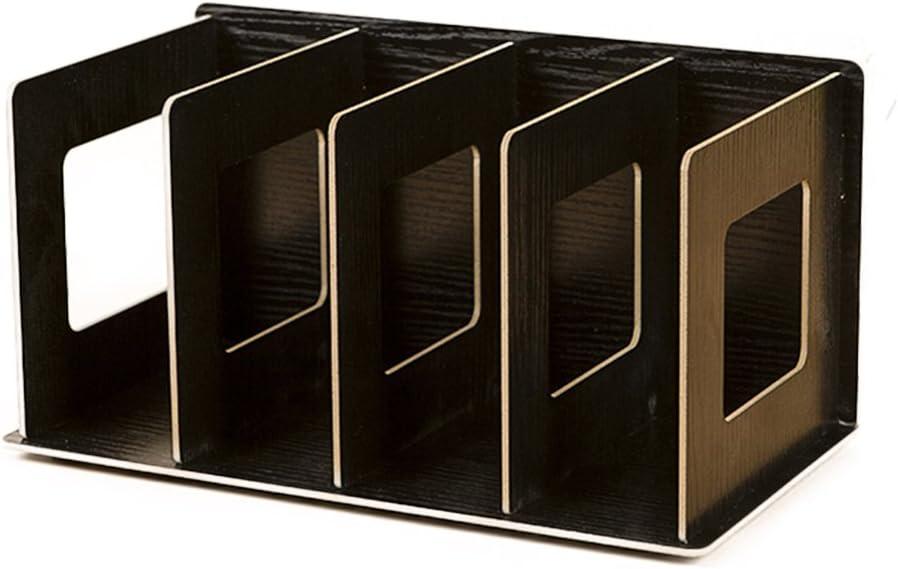 HMANE Mini Books Shelves, Creative Wooden DIY Desktop Shelves Multi-Layer Book CD Sorting Bookends Storage Racks Office Carrying Shelves - 12x5.9x6.7in