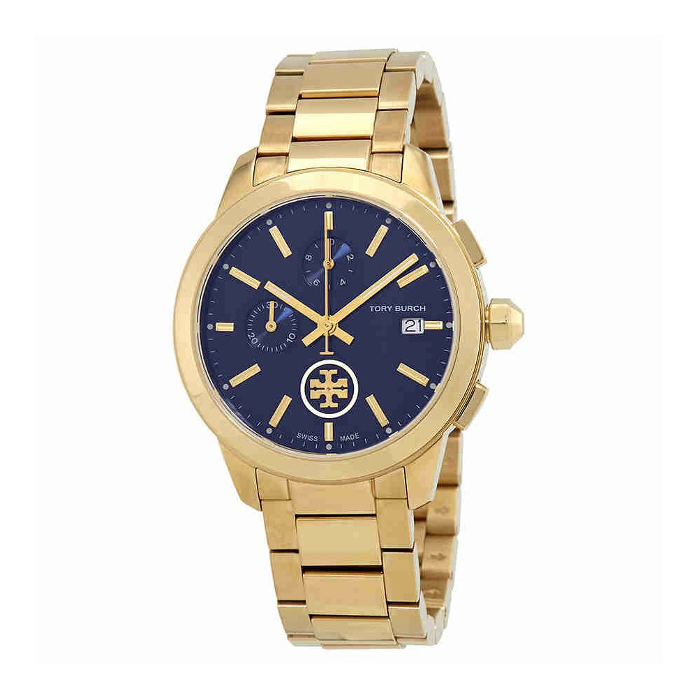 Tory Burch Collins Chronograph Blue Dial Ladies Watch TB1251 by Tory Burch