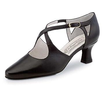 Damen Tanzschuhe Celine 5,5 Comfort Leder Schwarz [UK 4,5] Werner Kern