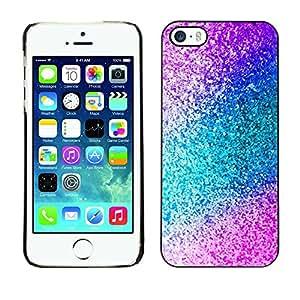 Caucho caso de Shell duro de la cubierta de accesorios de protección BY RAYDREAMMM - Apple iPhone 5 / 5S - Teal Purple Sparkling Watercolor