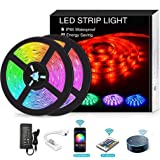 YOMYM LED Strip, LED Lights with Light Strip Kit controlled by WiFi 5050 wireless smart phone, Working with Android and…