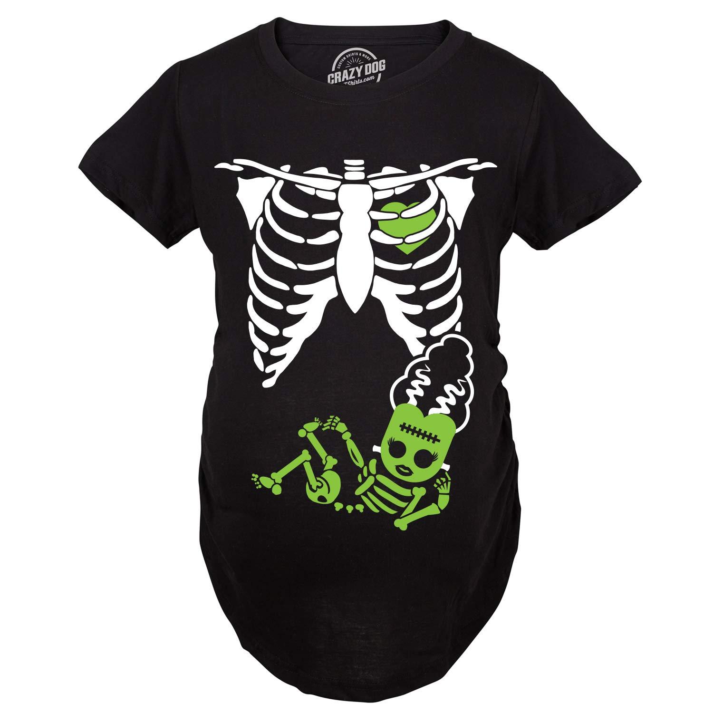 Maternity Bride of Frankenstein Pregnancy Tshirt Cute Halloween Baby Bump Tee