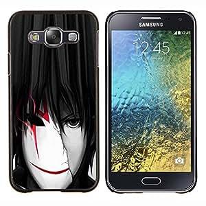 """Be-Star Único Patrón Plástico Duro Fundas Cover Cubre Hard Case Cover Para Samsung Galaxy E5 / SM-E500 ( Enfriar Máscara Anime Boy Hombre Blanco Rojo"""" )"""