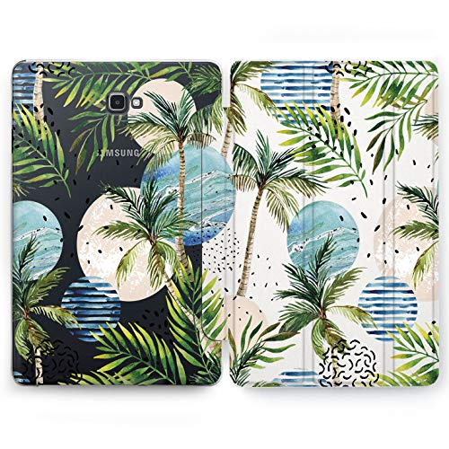 Wonder Wild Palm Trees Samsung Galaxy Tab S4 S2 S3 A E Smart Stand Case 2015 2016 2017 2018 Tablet Cover 8 9.6 9.7 10 10.1 10.5 Inch Clear Design Tropical Palm Leaves Pattern Watercolor Sunset Best