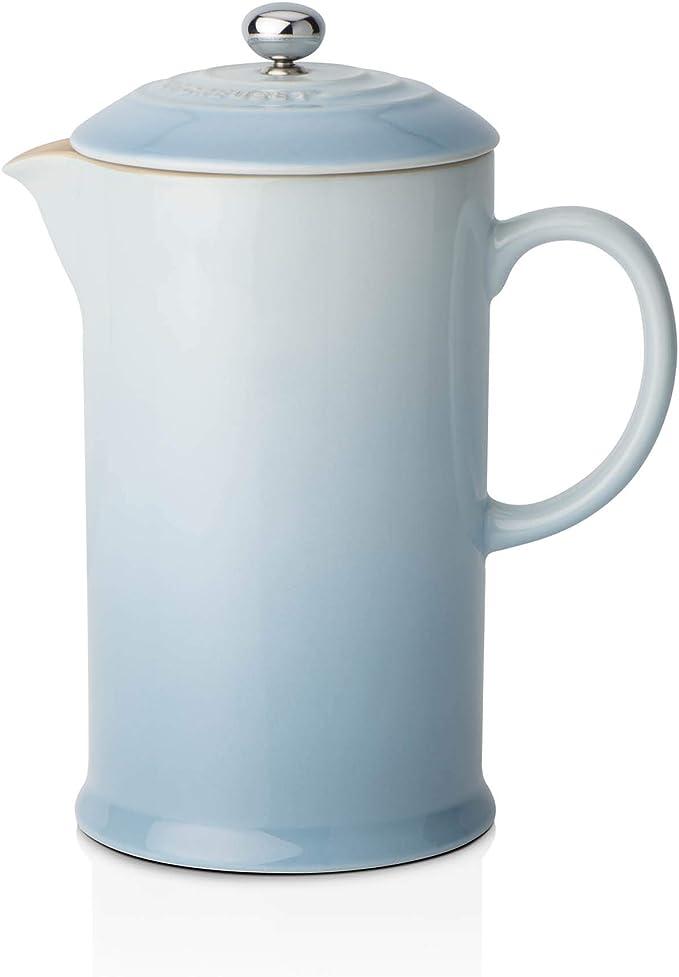 Le Creuset Cafetera francesa con prensa de acero inoxidable, Cerámica de gres, Azul(Coastal), 800 ml: Amazon.es: Hogar