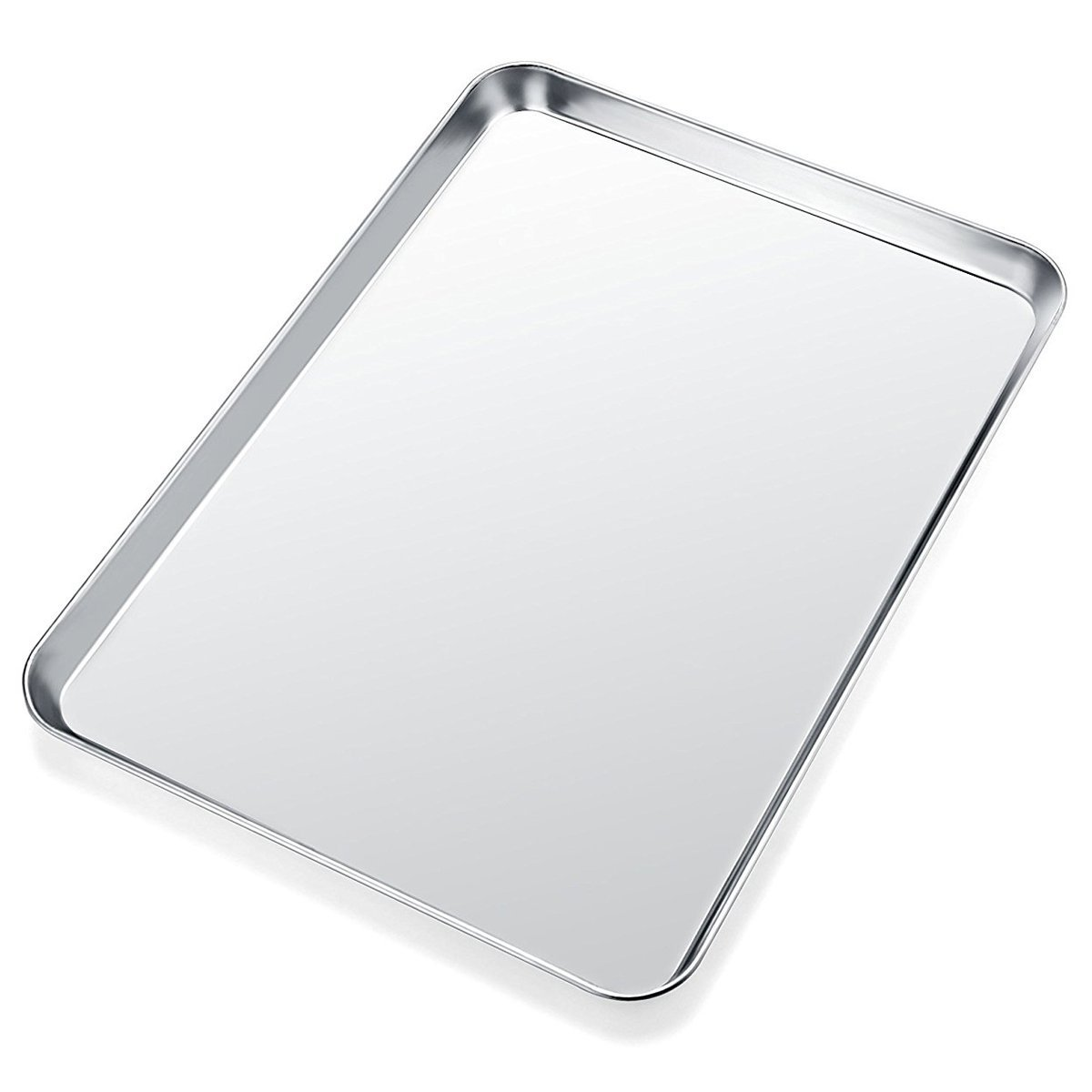 Baking Sheet, Yododo Stainless Steel Baking Pan Cookie Sheet, Rectangle Size 16 x 12 x 1 inch, Healthy & Non Toxic, Rust Free & Less Stick, Easy Clean & Dishwasher Safe