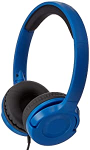 AmazonBasics Lightweight On-Ear Headphones - Blue