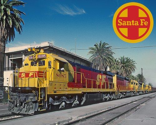 "Santa Fe Kodachrome GE C30-7 8"" x 10"" Metal Sign"