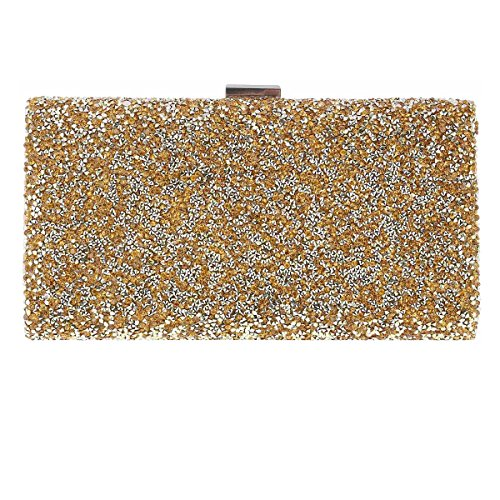 Decoration Womens Sparking Cocktail Gold Damara Clutch Bag Long E8qCPw