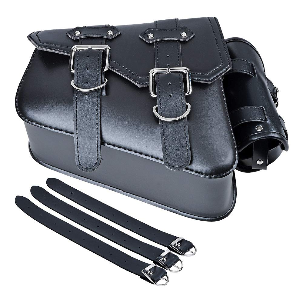 Left Side Motorcycle Solo Saddle Bag and Pannier Storage Compatible with Harley Sportster XL883 XL1200