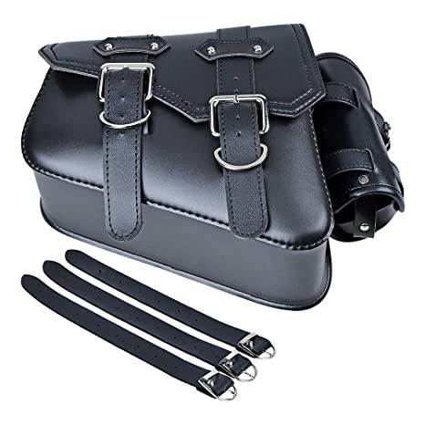 de191829dea1 Left Side Motorcycle Solo Saddle Bag and Pannier Storage Compatible with  Harley Sportster XL883 XL1200