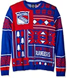 ny rangers crewneck - FOCO New York Rangers Patches Ugly Crew Neck Sweater Extra Large