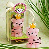 Cartoon Zodiac Tiger Charming Gifts Party Candles Smokeless Candles Birthday Candles for Baby Shower and Wedding Favor Keepsake Favor (10, Pink)