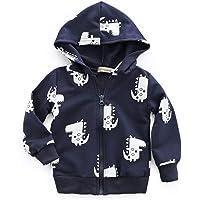 GoodFilling - Sudadera con capucha para recién nacido, con cierre, diseño de dinosaurio