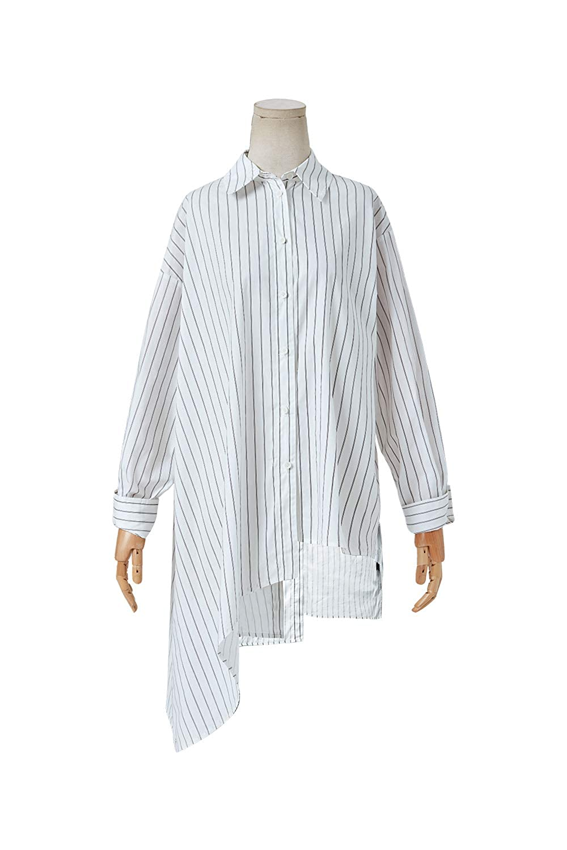 ba11a6b3e Artka Women's Drop Shoulder Striped Boyfriend Button Down Shirt With  Asymmetric Hem at Amazon Women's Clothing store: