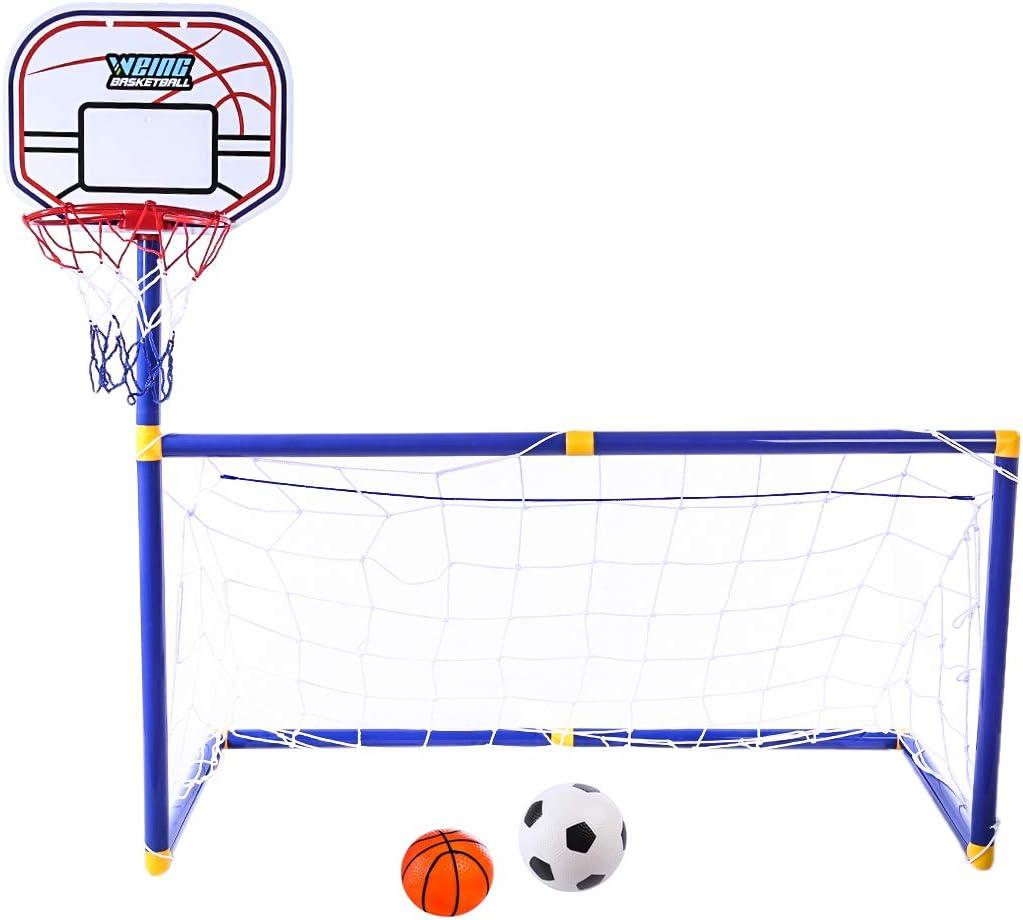 Leic Soportes de fútbol y Baloncesto 2 en 1 Práctica Deportiva Interior y Exterior Equipo Educativo Juego de Juegos para niños