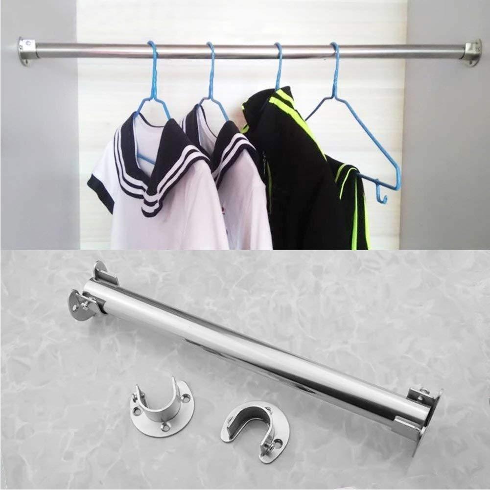 Edelstahl-Stangen-Flansch-Set Kleiderstangen-Halterung U-f/örmige Stangen-Flansch-Set f/ür Schrank Duschvorhangstange 4 St/ück