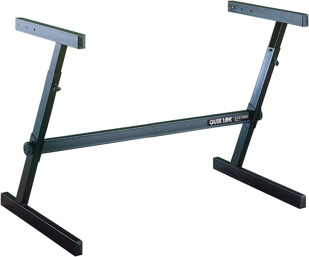 Quik Lok Z//716L Single Tier Extra-Wide Adjustable Height Z-Style Keyboard Stand