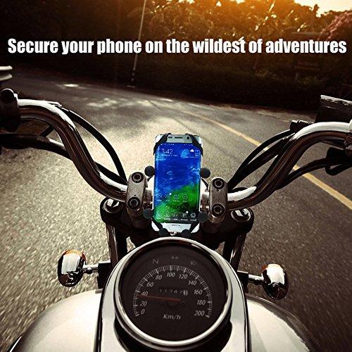 MOTOPOWER MP0619 Vélo Moto téléphone portable support essuie-tout pour n'importe quel Smartphone et GPS – Universel de montagne et route de vélo moto Guidon Cradle support good