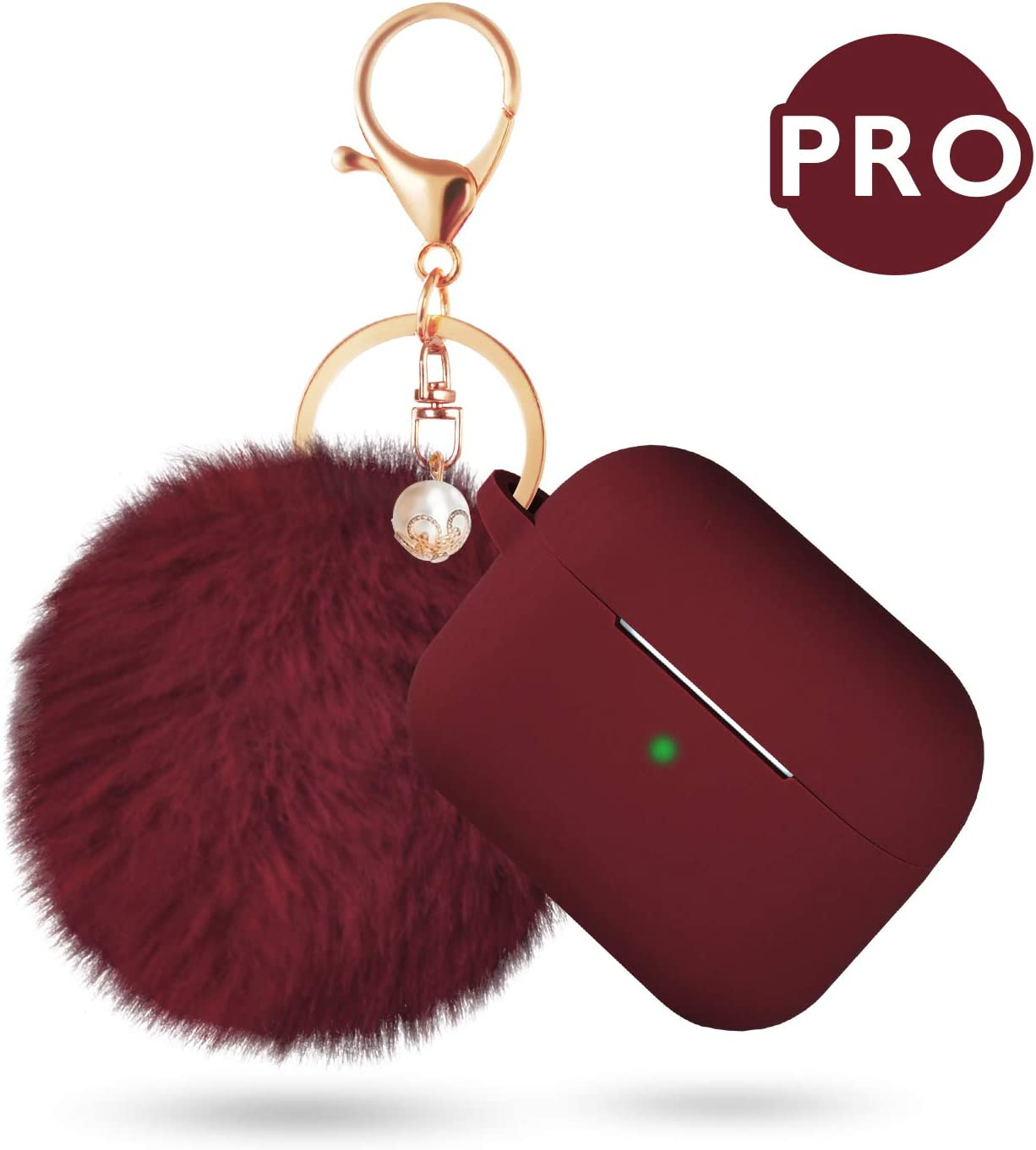 Caseology Vault for Apple AirPods Pro Case 2019 Burgundy
