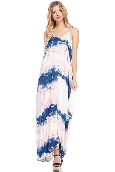 29213b807779 Love Stitch Women s Beautiful Marble Print Maxi Dress (M L