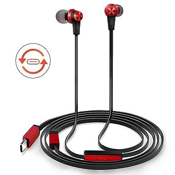 TriLink USB tipo C Auriculares de botón(DAC Chipset)Auriculares In Ear con Micrófono para iPad Pro/MacBook, Huawei P30/P20/Mate 20/10, OnePlus ...