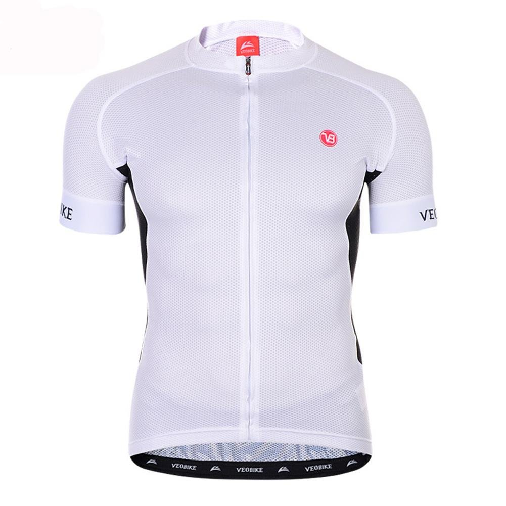PIO High-End Race-Level Riding Suits Short-Sleeved Single-Shirt Summer Sweat Sweat Dry Bike Ride, white, l