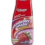 Colgate Fluoride Toothpaste Strawberry Smash Liquid Gel 4.60 oz ( Pack of 3)