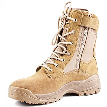 Men Outdoor Tactical Leather Boots Military Combat Army Desert Shoes Patrol Shoe
