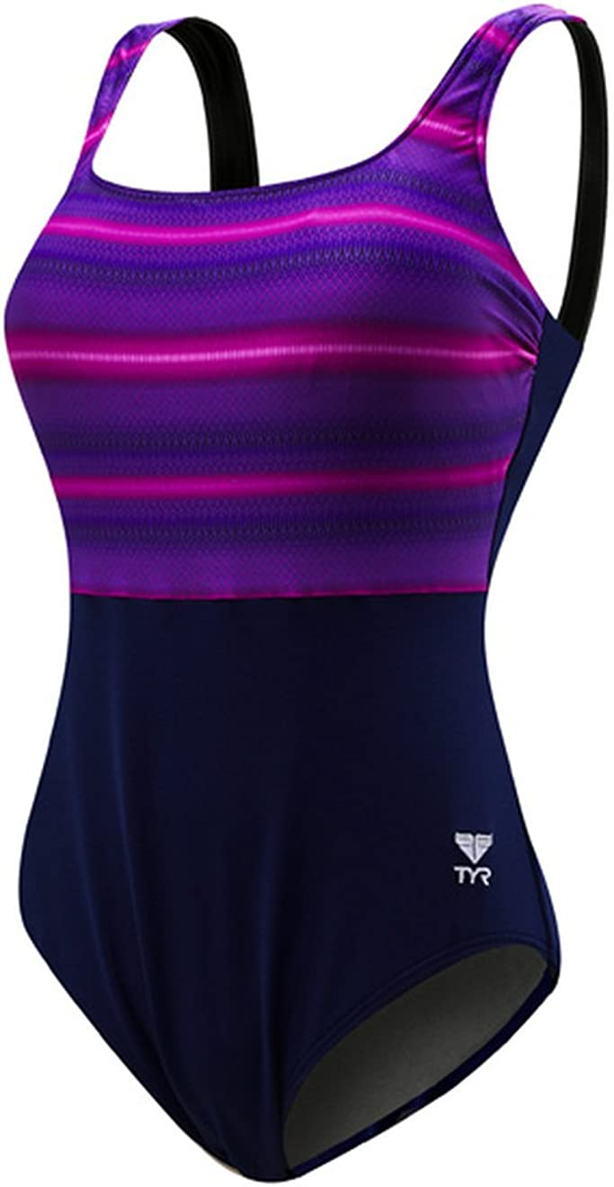 TYR Womens Tramonto Scoop Neck Controlfit Swimming One Piece